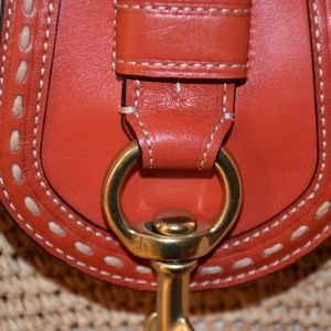 Coach Bags - 💋FLASH SALE💋NWOT COACH Straw & Red Leather